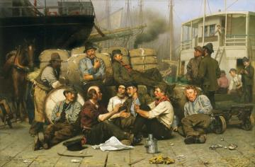 The Longshoremen's Noon Artwork by John George Brown