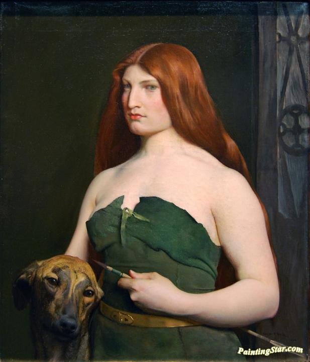 A Celtic Huntress Artwork by George de Forest Brush
