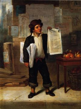 Newsboy Selling The New-york Herald Artwork by James A. Cafferty