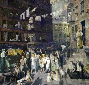 Cliff Dwellers Artwork by George Wesley Bellows