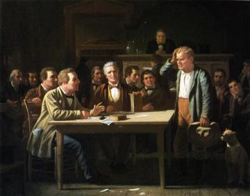 The Puzzled Witness Artwork by George Caleb Bingham