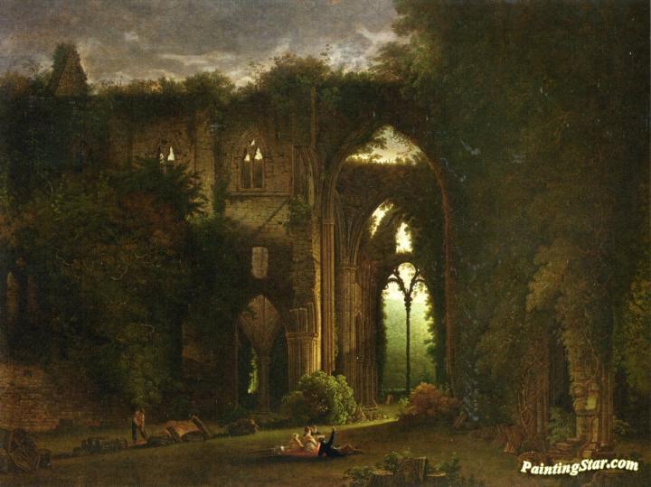 Tintern abbey painting
