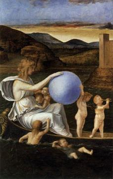 Four Allegories: Fortune (or Melancholy) Artwork by Giovanni Bellini