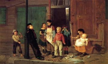 The Bully of the Neighborhood Artwork by John George Brown