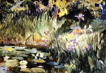Iris And Lilies Artwork by Frank W. Benson