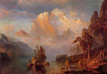 Rocky Mountains Artwork by Albert Bierstadt