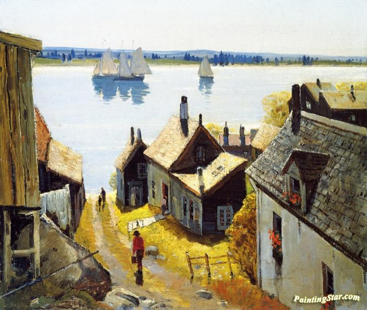 Rooftops Gloucester Artwork By Anthony Thieme Oil