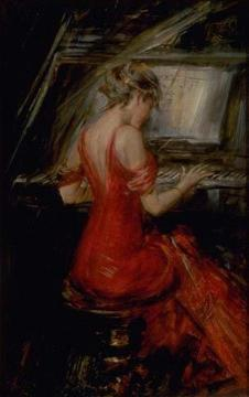 The Woman In Red Artwork by Giovanni Boldini