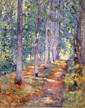 Wooded Path Artwork by Alson Skinner Clark