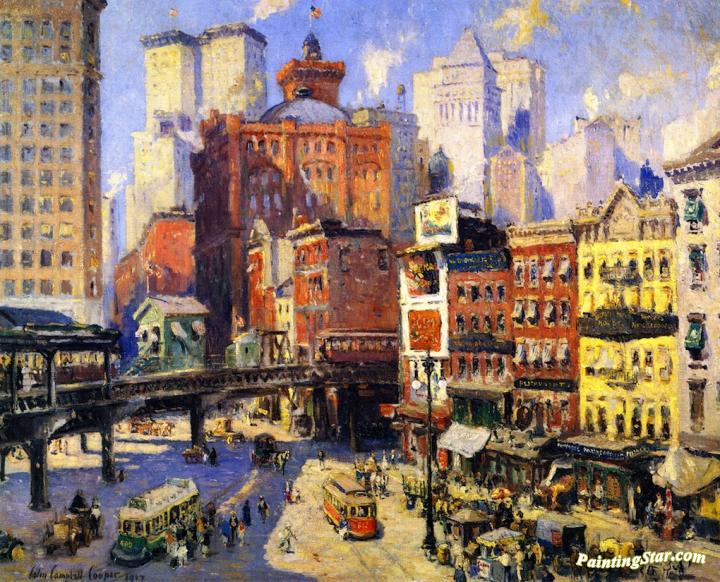 south ferry new york artwork by colin campbell cooper oil painting art prints on canvas for. Black Bedroom Furniture Sets. Home Design Ideas