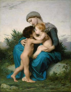 Fraternal Love Artwork by William Adolphe Bouguereau