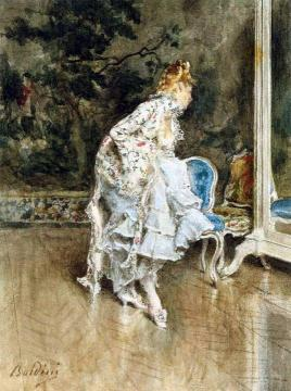 The Beauty Before The Mirror Artwork by Giovanni Boldini