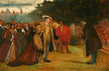 Study Of A Historical Scene Showing Henry Viii And His Courtiers Artwork by Philip Hermogenes Calderon