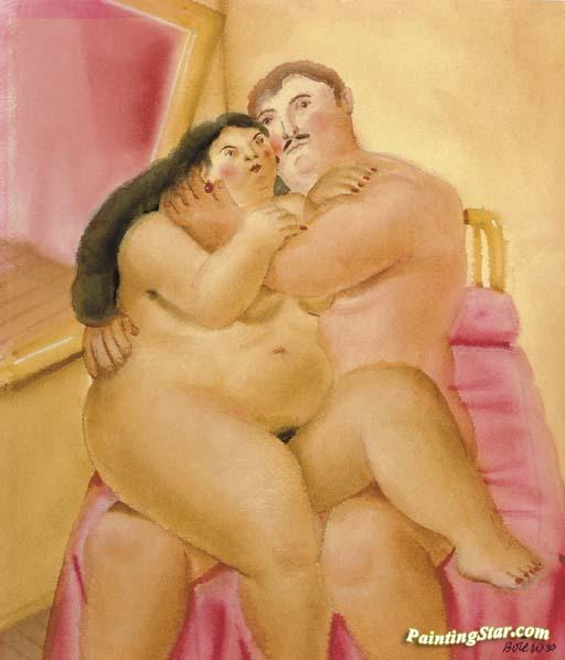 The Lovers Artwork by Fernando Botero