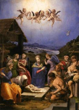 Adoration of the Shepherds Artwork by Agnolo Bronzino