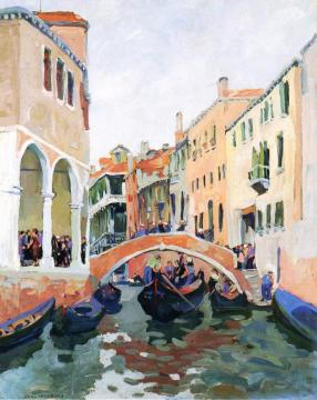 Venetian Canal Artwork by Jane Peterson