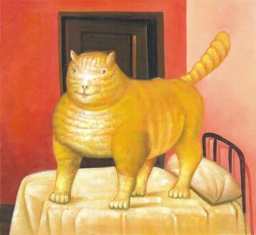 The Cat Artwork by Fernando Botero