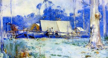 Surveyor's Camp Artwork by Sir Arthur Streeton