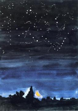 Moonset Artwork by Charles Burchfield