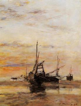 Berck: Low Tide Artwork by Eugène-Louis Boudin