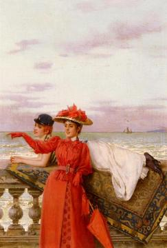 Looking Out To Sea Artwork by Vittorio Matteo Corcos