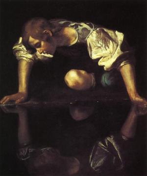 Narcissus Artwork by Caravaggio