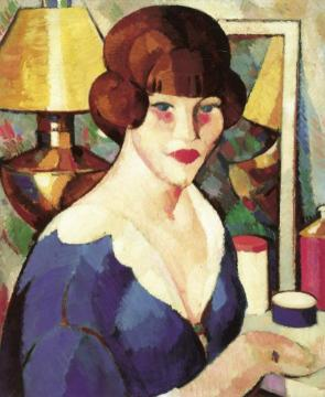 At the Dressing Table Artwork by John Duncan Fergusson