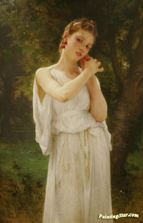Earrings Artwork by William Adolphe Bouguereau