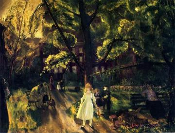 Gramercy Park Artwork by George Wesley Bellows
