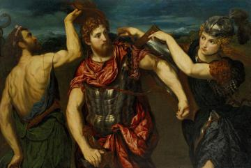 Perseus Armed by Mercury and Minerva Artwork by Paris Bordone
