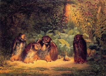 Owls Artwork by William Holbrook Beard