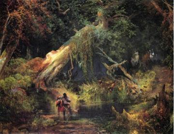 Slave Hunt, Dismal Swamp, Virginia Artwork by Thomas Moran