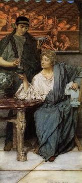 The Roman Wine Tasters Artwork by Sir Lawrence Alma-Tadema