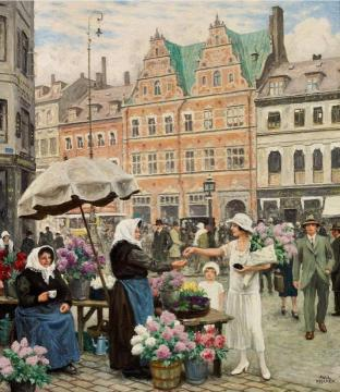 From Hojbro Plads Artwork by Paul Gustave Fischer