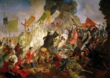 Siege of Pskov Artwork by Karl Pavlovich Bryullov