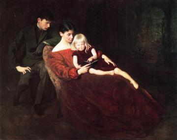 A Family Group Artwork by George de Forest Brush