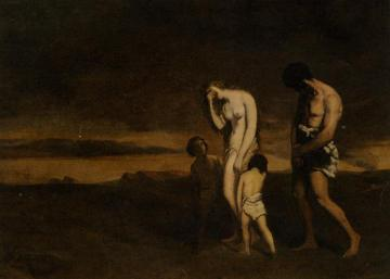 Punishment of Cain Artwork by Theodore Chasseriau