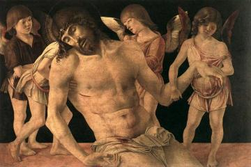 Dead Christ Supported by Angels (Pieta) Artwork by Giovanni Bellini