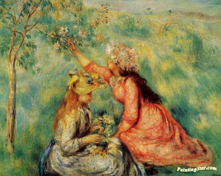 Congratulate, seems Renoir girl with flowers regret