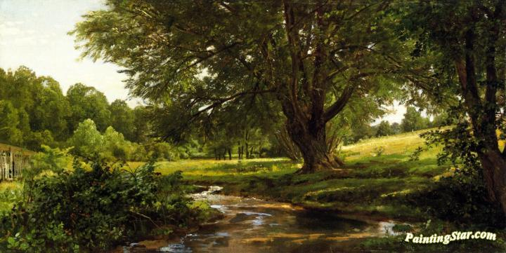 Glade At Oldmixon Chester County Pennsylvania Artwork By William Trost Richards