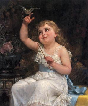 Her New Friend Artwork by Emile Munier
