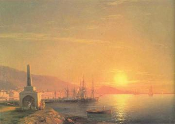The Sunrize In Feodosiya Artwork by Ivan Constantinovich Aivazovsky