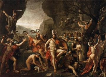 Leonidas at Thermopylae Artwork by Jacques Louis David
