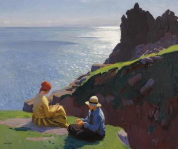 On The Cliffs Artwork by Dame Laura Knight
