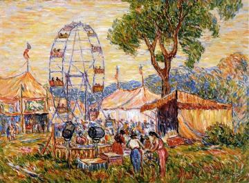 Country Fair, Carnival, Gloucester Artwork by Reynolds Beal