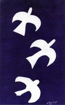 Three Birds Artwork by Georges Braque