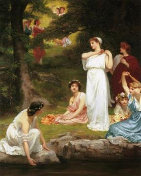 Joyous summer, pleasant it was when the woods were green Artwork by Philip Hermogenes Calderon