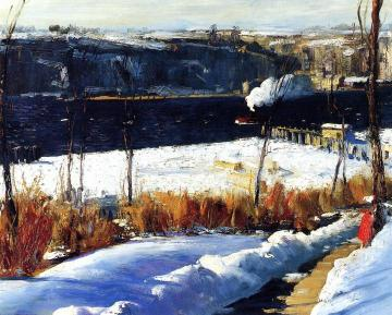 Winter Afternoon Artwork by George Wesley Bellows