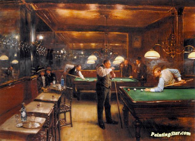 Billiards Life Art Repro choose Canvas or Paper by Jean Béraud Le Billard