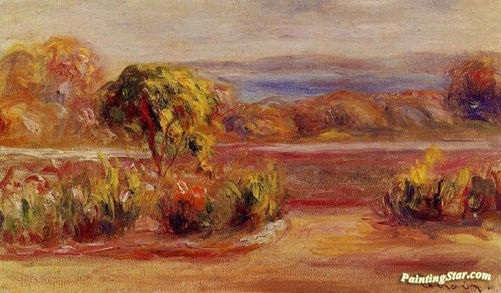 Midday Landscape, Art Painting by Pierre Auguste Renoir